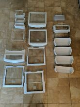 GE Profile refrigerator   freezer interior parts shelves racks trays basket