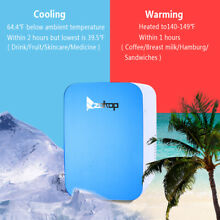 Portable Car Fridge Cooler Warmer Mini Compact Refrigerator Cool Heat 12V Blue
