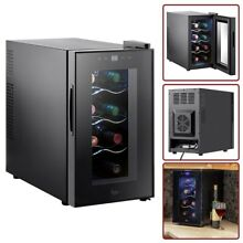 8 Bottle Wine Cooler Mini Fridge Thermoelectric Drinks Beverages Refrigerator