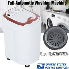 4 4LBS Portable Washing Machine Compact Full Automatic Laundry Washer Spinner US