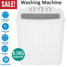 2in1 Portable Compact Twin Tub 18 7lb Washing Machine Laundry Washer Spin Dryer