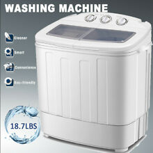 Mini Portable Compact Twin Tub 18 7lbs Washing Machine Washer Spin Dryer Laundry