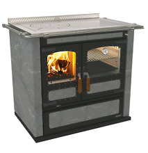 Wood Burning Cook Stove Rizzoli L90 SoapStone Right flue