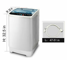 Portable Compact Full Automatic Washing Machine 8 LBS Spin Dryer Laundry White