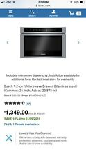 Bosch Drawer Microwave
