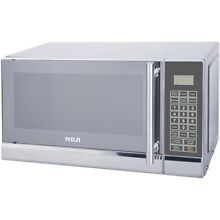 NEW RCA 700 WATTS 0 7 CU FT MICROWAVE  STAINLESS STEEL