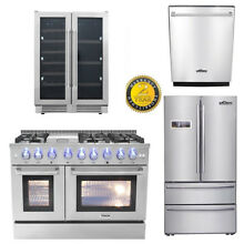 48   dual fuel Range  24 Dishwasher 36  Refrigerator 24  Wine Cooler deal THOR