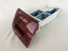 SAMSUNG VRT STEAM WASHER COMPLETE DETERGENT DRAWER ASSEMBLY  DC97 19188A RED