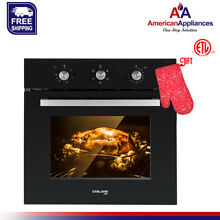 Gasland Chef ES606MB 24  Built in Black Glass Electric Single Wall Oven  240V