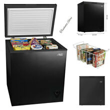 5 CU FT Chest Freezer Compact Cooler with Removable Basket Black NEW Arctic King