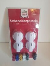 Smart Choice Universal Gas and Electric Range Knob Kit  White
