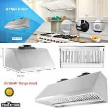 30 48  Mesh Filter Under Cabinet Kitchen Range Hood 900 1200CFM Stove Vented LED
