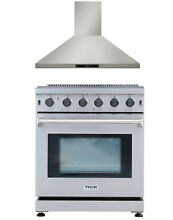 Cooktop Stove 30  Gas Range 30in Hood Vent Stainless Steel 2 units Package