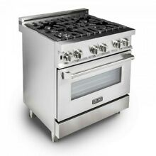 ZLINE 30  Stainless Steel 4 0 cu ft  4 Gas Burner Electric Oven Range RA30 JS114
