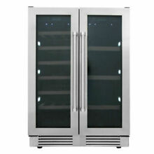 24 Thor 21 Bottles Wide Built In Dual Zone Wine   95 Beverage Cooler TBC2401DI