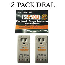 2 Pack Refrigerator 1800 Watts Voltage Brownout Appliance Surge Protector NEW