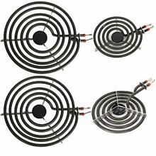 Electric Range Burner Element Unit Set for Most Ranges  2 pcs MP15YA 6  and 2 pc