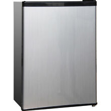 Midea 2 4 Cu  Ft  Single Door Compact Refrigerator in Stainless Steel