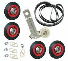 W10314173  W10547292  W10136934 Rollers Pulley Belt For Maytag Dryer Kit
