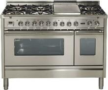 ILVE UPW120FDMPI 48 Inch Dual Fuel Convection Range in Stainless Steel