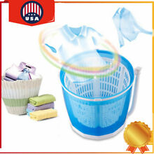 Portable Hand operated Mini Washing Machine Compact Washer Spin