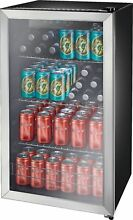 Insignia  115 Can Beverage Cooler   Stainless steel