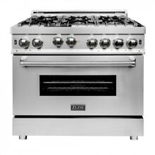 ZLINE 36 in  Professional 4 6 cu  ft  6 Gas on Gas Range in Stainless   RG36 JI