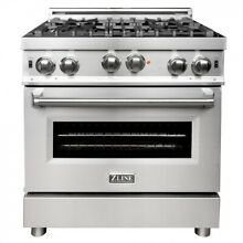ZLINE 30 in  Professional 4 0 cu  ft  4 Gas on Gas Range in Stainless  RG30  JI