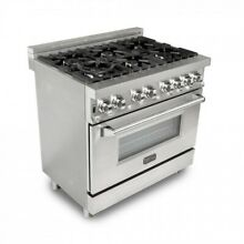 ZLINE 36  Stainless Steel 4 6 cu ft  6 Gas Burner Electric Oven Range RA36 Ji