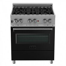 ZLINE 30 in  Professional Dual Fuel Range in Snow Stainless Steel