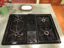Jenn Air Black Gas Downdraft Cooktop CG206B Good condtion