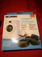 Ideaworks Anti Vibration Pads for Washer   Dryer Machines STOPS SHAKING Set of 4