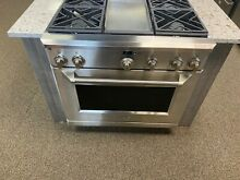 Monogram 36  Stainless Steel Prostyle Dual Fuel Gas Convection Range ZDP364NDPSS