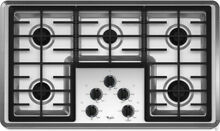 Whirlpool W5CG3625XS 36 Inch Gas Cooktop 5 Burner Stainless AccuSimmer Stainles