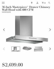 Save  800  Thermador HDDB36WS 36 Inch Masterpiece  Drawer Chimney Wall Hood