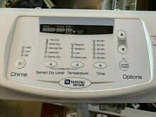 Maytag Neptune Gas Dryer MDG9700AWW Front Control Panel   WITH Circuit Board