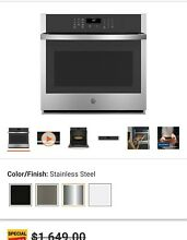 GE JTS3000SNSS 30  Stainless Steel Smart Built In Single Wall Oven