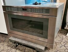 Jenn Air Stainless Steel Undercounter Microwave with a power sliding drawer