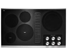 KitchenAid KCED606GSS 36  Electric Downdraft Cooktop with 5 Cooking Elements New