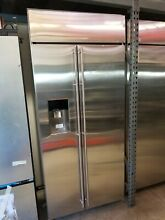 GE Monogram ZISS360DKCSS 36  Stainless Steel Built In Side By Side Refrigerator