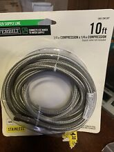 Everbilt Ice Maker Supply Line Stainless 10 Foot 1 4  x 1 4  Compression NEW