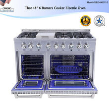 Thor 48  6 Burners Cooker Electric Oven Dual Fuel Range Free Standing Stainless