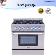 Thor Kitchen 36  Gas Hob 6 Burners Stove Kitchen Easy Gas Cooktops Clean Cooking