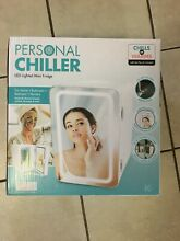 New Personal Chiller LED Lighted Mini Fridge with Mirror Door Chill or Warm