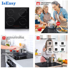 IsEasy Electric Induction Hob 59CM Cooktop Built In 4Burner Touch Control Cooker