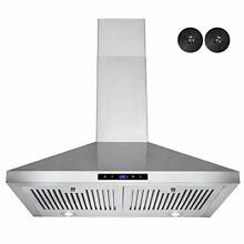 30 in  WALL MOUNT RANGE HOOD  STAINLESS STEEL  VENTED  LED LIGHTS
