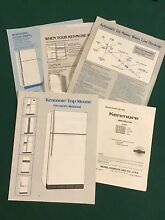 Kenmore 1989 Top Mount Refrigerator Owners Manual Parts List 10687926 Model Nos