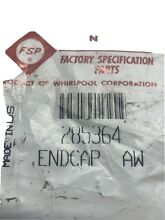 285364 Whirlpool Washer Control Panel Endcaps
