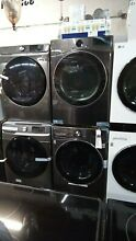 LG Black Steel Steam Cycle Front Load Washer and Dryer Set