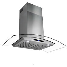36   Touch Control Stainless Steel Glass Wall Mount Range Hood w  Touch Control